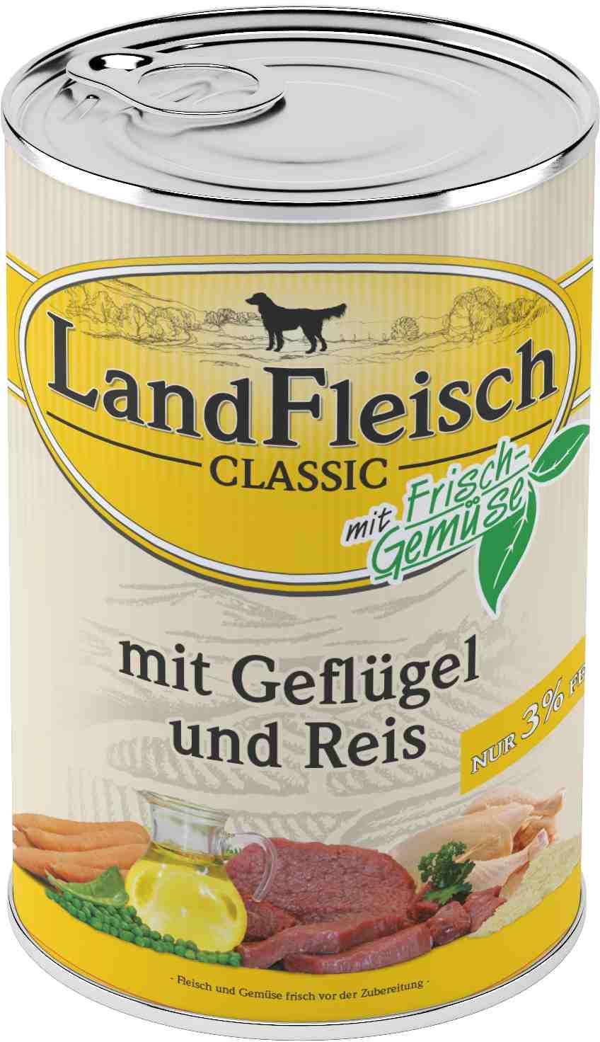 Landfleisch Dog Classic Gefl. Reis extra mager 400g