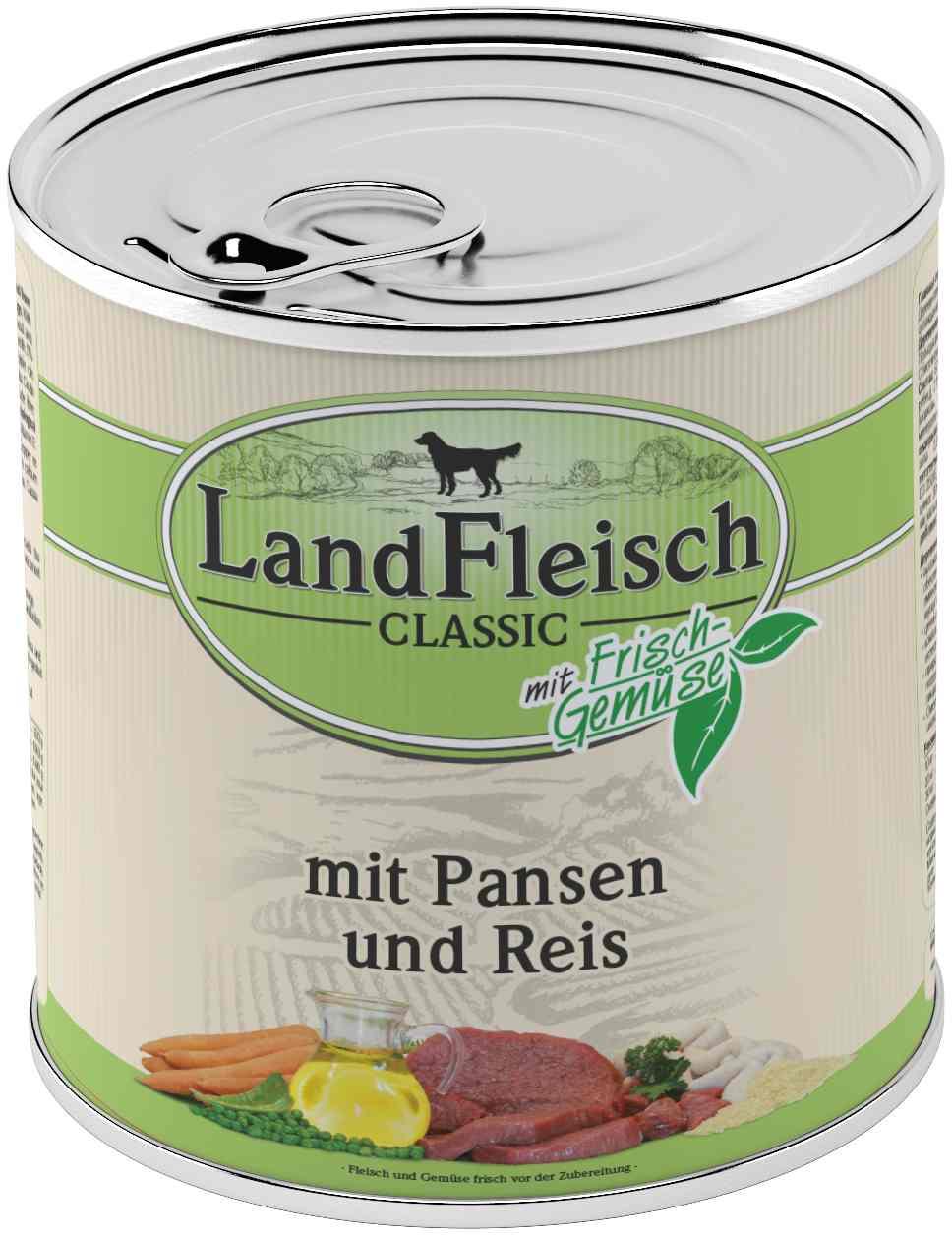 Landfleisch Dog Classic Pansen, Reis 800g