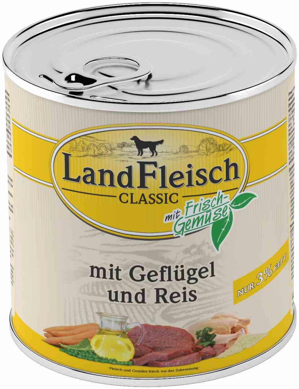 Landfleisch Dog Classic Gefl. Reis extra mager 800g