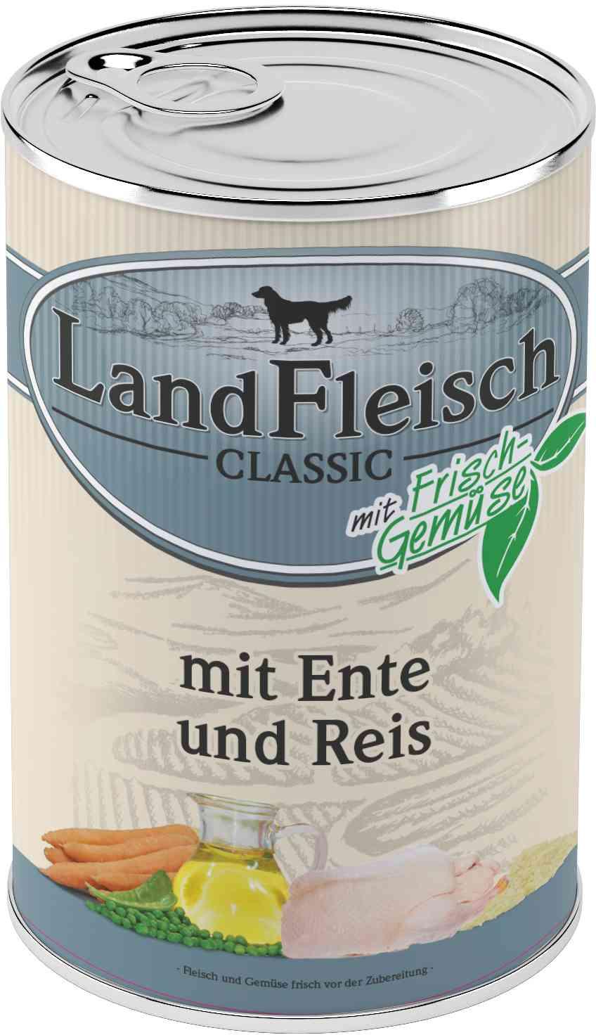 Landfleisch Dog Classic Ente, Reis 400g