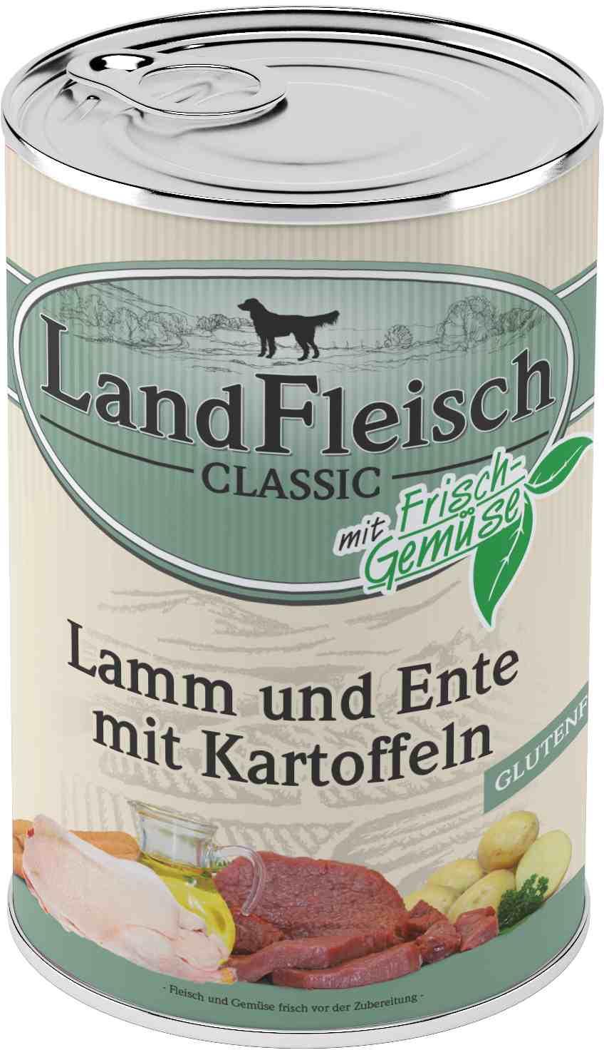 Landfleisch Dog Classic Lamm, Ente, Kart. 400g