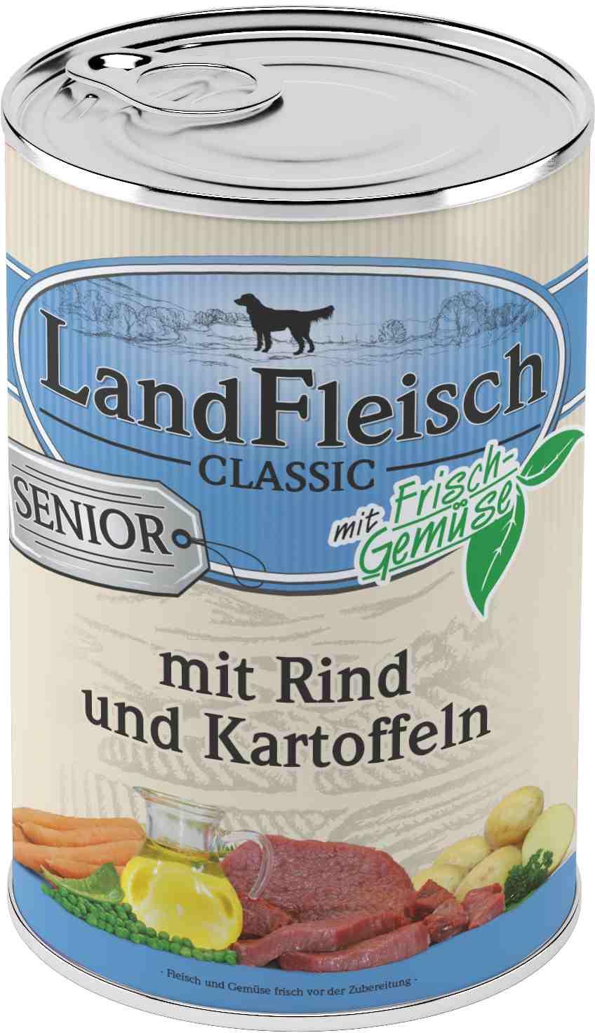 Landfleisch Dog Classic Senior Rind, Kartoffeln 400g