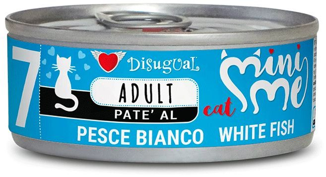 Disugual Cat Mini Me 7 konzerva bílá ryba 85g