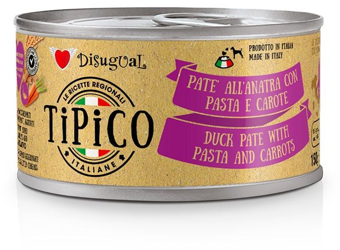 Disugual Tipico Dog Duck, Pasta and Carrots konzerva 150g