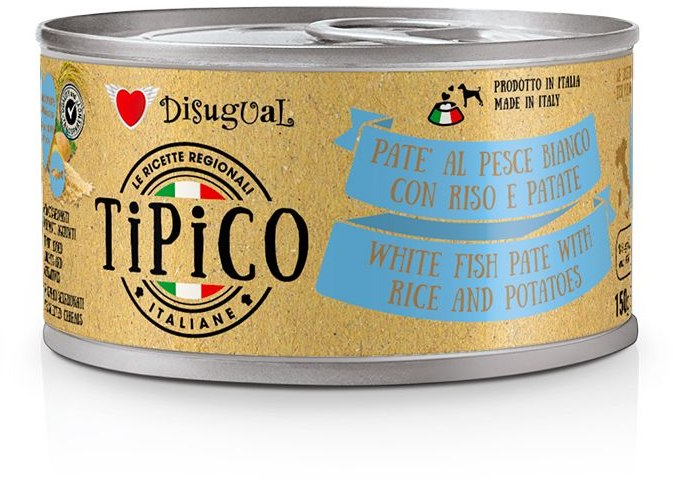 Disugual Tipico Dog White Fish, Rice and Potatoes konzerva 150g