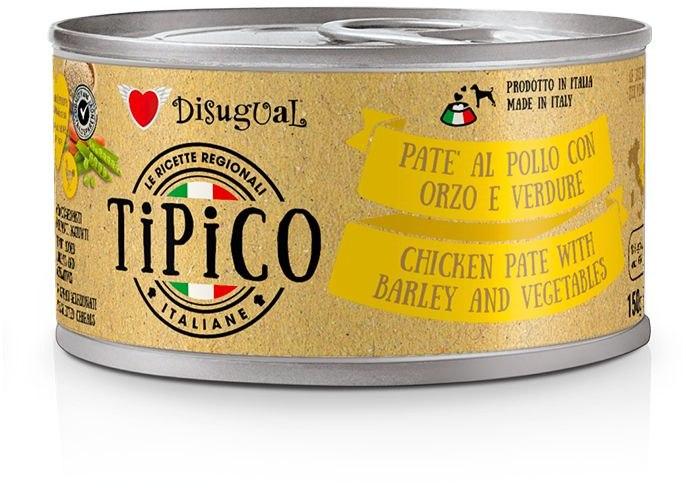 Disugual Tipico Dog Kuřecí, ječmen a zelenina konzerva 150g