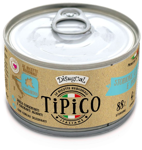 Disugual Tipico Dog Storione, Spelt and Vegetable konzerva 150g