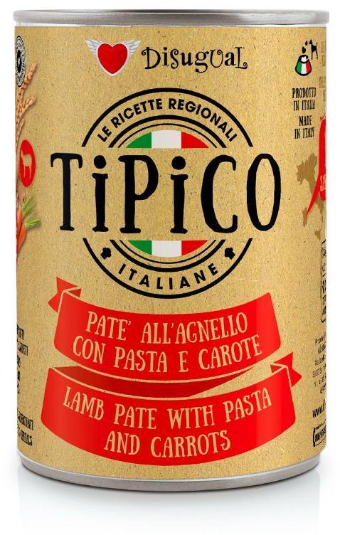 Disugual Tipico Dog Lamb, Pasta and Carrots konzerva 400g