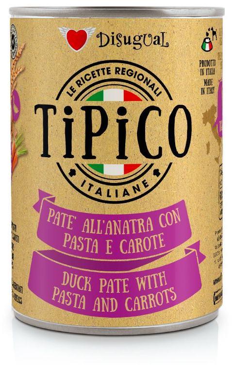 Disugual Tipico Dog Duck, Pasta and Carrots konzerva 400g
