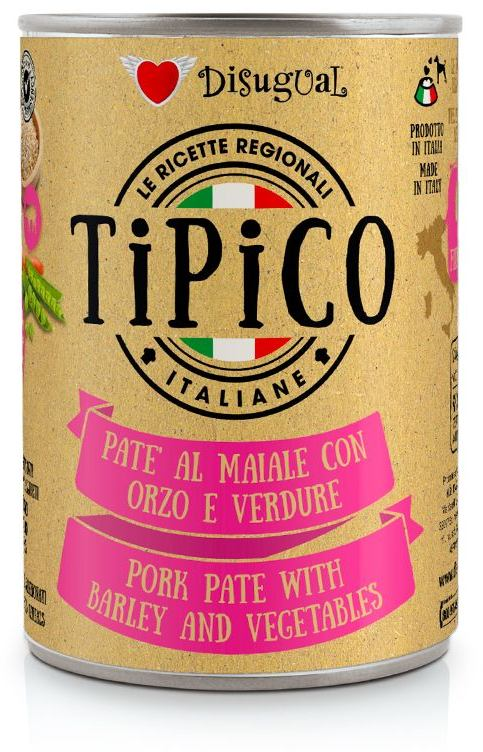 Disugual Tipico Dog Pork, Barley and Vegetables konzerva 400g