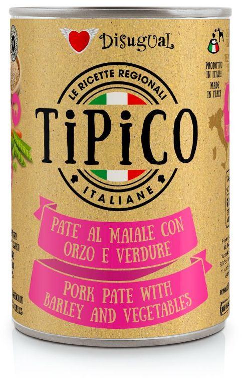 Disugual Tipico Dog Vepřové, ječmen a zelenina konzerva 400g