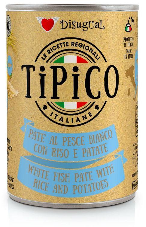 Disugual Tipico Dog White Fish, Rice and Potatoes konzerva 400g