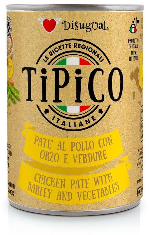 Disugual Tipico Dog Chicken, Barley and Vegetables konzerva 400g