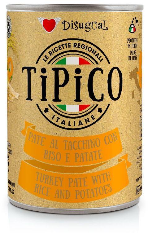 Disugual Tipico Dog Turkey, Rice and Potatoes konzerva 400g